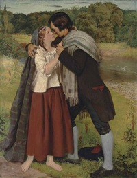 the parting of robert burns and highland mary by james archer