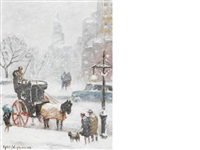along 59th street in winter by guy carleton wiggins