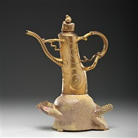 gold teapot by ralph bacerra