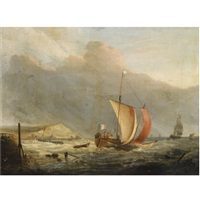 the harbour of boulogne by jacob willem gruyter