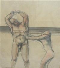 homme et femme nus by luis caballero