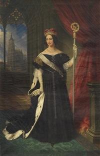 erzherzogin maria theresia, königin von neapel-sizilien als äbtissin des adeligen damenstiftes am prager hradschin by johann nepomuk ender