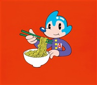 atomaus eating ramen by lee dongi