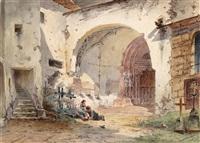 kinder vor dem nonnberg kloster by anton altmann the younger