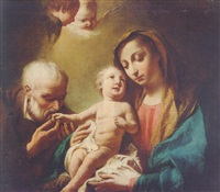 the madonna and child with saint anthony of padua by giuseppe angeli