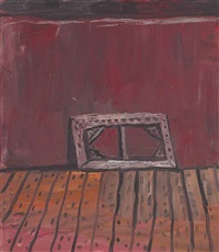 painting on floor by philip guston