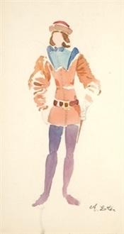 personaje medieval by alexandra exter
