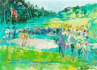 15th hole by leroy neiman