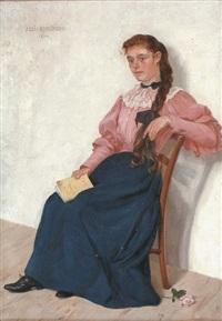 jeune femme à la lecture by abel boulineau