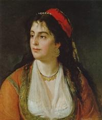 portrait einer frau in tracht by tito agujari