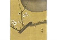 moon and plum tree by shoen uemura