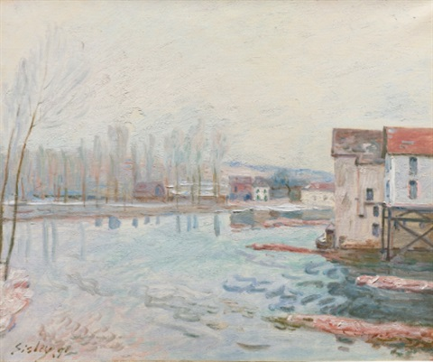 lhiver à moret by alfred sisley