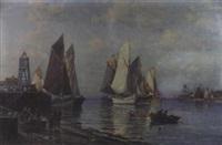 holländischer fischereihafen by c. th. schmitz