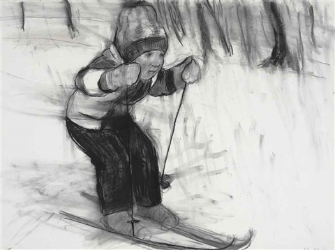 ill never be a good skier ii by rita ackermann