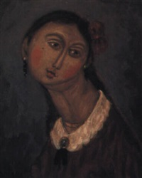 fille au ruban rouge by oscar arcila