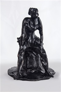 ballerine assise, after lucio fontana (re-edition) from by lucio fontana