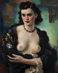portrét herečky by frantisek naske