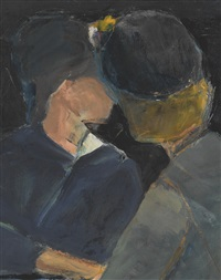 two women at table by richard diebenkorn