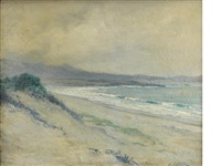 lifting fog, carmel dunes by guy rose