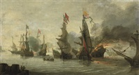 a naval engagement between the christians and the turks by andries van eertvelt