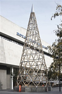 paper tower pavilion by shigeru ban