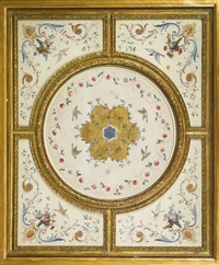 ceiling decoration by jean antoine watteau