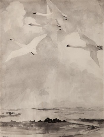 swans by frank weston benson
