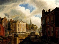 vue d'une ville en hollande by augustus wijnantz