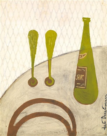 composition aux verres et à la bouteille by natan isaevich altman