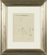 étude de chevaux et visserie (study) (double-sided) by rené magritte