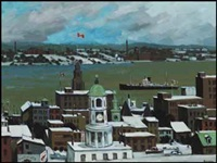 halifax harbour by bruno joseph bobak