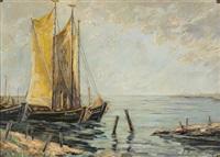 kurische nehrung (boote am strand) by wilhelm heseler