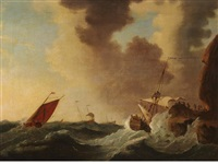 running up on the windward shore by bonaventura peeters the younger
