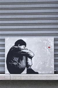 sittin kid pour la croix-rouge by jef aerosol