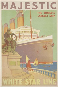 majestic, white star line by william james aylward