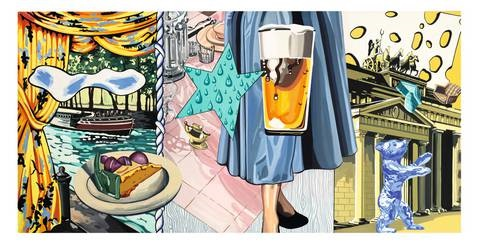 to be titled 1 triptych by david salle