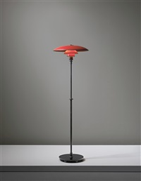 early adjustable standard lamp, type 5/3 shades by poul henningsen