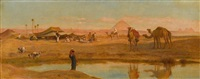 a bedouin encampment near sakara by frederick goodall
