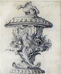 projet de vase composé de coquillages by j.s. hildt