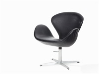 'swan chair' by arne jacobsen