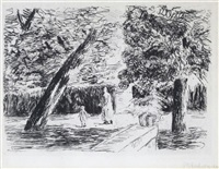 the garden terrace by max liebermann
