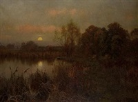 the rising moon by edward wilkins waite