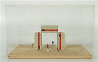 containers (maquette) by luc deleu