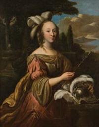 ritratto di principessa in un paesaggio by abraham lambertsz jacobsz van den tempel