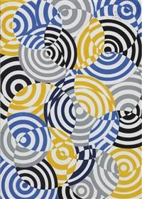 interférences en bleu, jaune et gris no. 641 by antonio asis