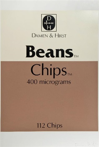 last supper beans and chips by damien hirst