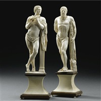 figures of apollo and hercules (pair) by anglo-french school (18)
