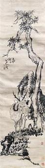 鹿 by bada shanren