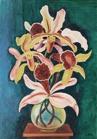 vase d orchidées by moïse kisling