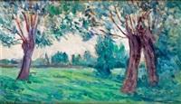 paysage de bessy-sur-cure dans l'yonne by maximilien luce